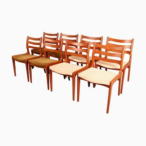 Mid-Century Danish Teak Dining Chairs from Dyrlund, Set of 8