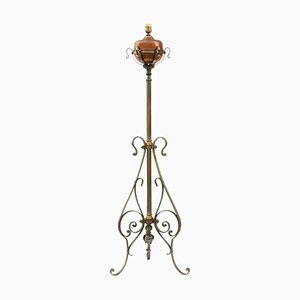 Arts & Crafts Copper & Steel Adjustable Floor Lamp, 1910s