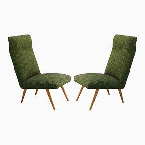Französische Mid-Century Sessel, 1950er, 2er Set