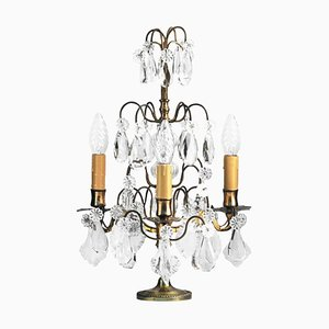 Lámpara de mesa Girandole francesa, siglo XIX