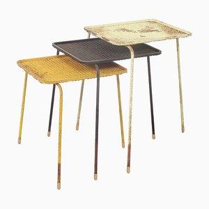 Tavolini ad incastro Soumba di Mathieu Matégot, anni '50