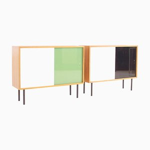 Small Teak Sideboards by Georg Satink for WK Möbel, 1950s, Set of 2