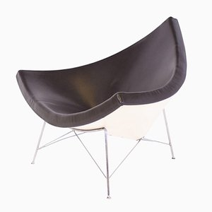 Brown Leather Coconut Chair by George Nelson for Vitra, 1950s