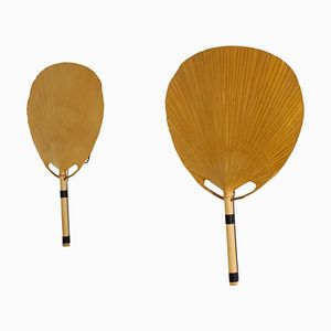 Uchiwa Fan Wall Lamps by Ingo Maurer for Design M, 1977, Set of 2