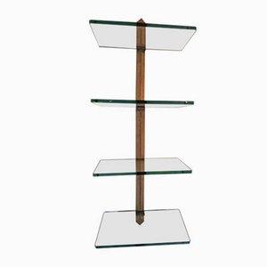Wandregal mit Glasplatten von Peter Ghyczy, 1970er