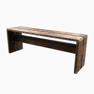 Sitzbank aus massivem Pinienholz von Charlotte Perriand, 1960er