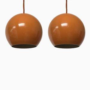 Lampes à Suspension Topan par Verner Panton pour Louis Poulsen, 1970s, Set de 2