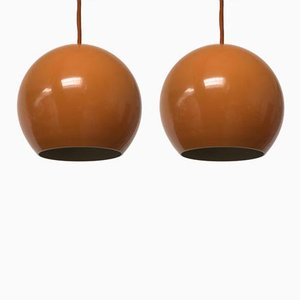 Topan Pendant Lamps by Verner Panton for Louis Poulsen, 1970s, Set of 2