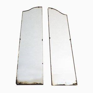 Art Deco Frameless Mirrors, 1920s, Set of 2