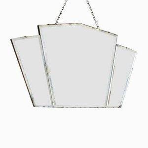 Fächerförmiger Art Deco Spiegel, 1950er