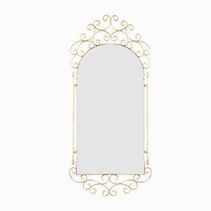 Vintage Spiegel mit goldenem Metallrahmen, 1950er