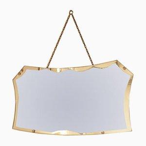 Art Deco Frameless Mirror, 1930s