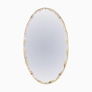 Vintage Spiegel mit gewölbten Kanten, 1950er