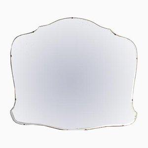 Großer rahmenloser Vintage Spiegel