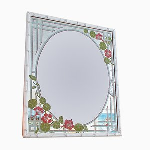 Vintage Faux Bamboo Mirror
