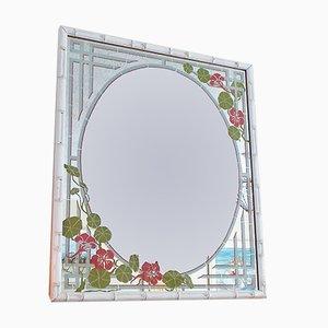 Vintage Spiegel mit Rahmen aus Kunstbambus