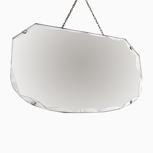 Vintage Scallop Edge Mirror, 1930s