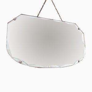 Vintage Spiegel mit rundgezackten Kanten, 1930er