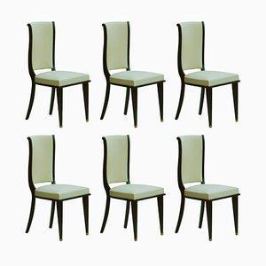 Chaises de Salle à Manger Style Art Déco, France, Set de 6