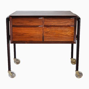 Scandinavian Rosewood Sewing Table, 1950s