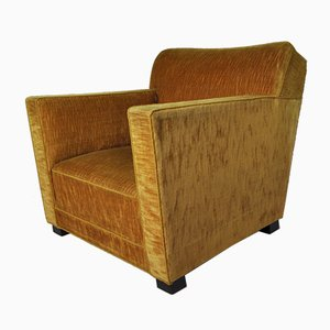 Mid-Century Velvet Lounge Chair