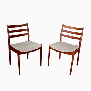 Mid-Century Danish Teak Dining Chairs by Arne Vodder for France & Son, Set of 2