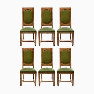 Französische Arts & Crafts Esszimmerstühle, 6er Set