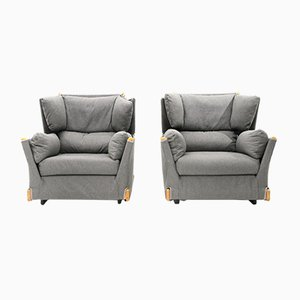 Gray Viola D'amore Armchairs by Piero de Martini for Cassina, 1970s, Set of 2