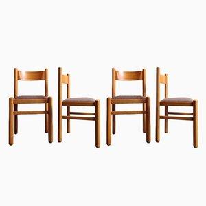 Schwedische Esszimmerstühle aus Birke, 1950er, 4er Set