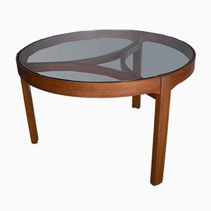 Mid-Century Circular Teak Coffee Table from Nathan, 1970s