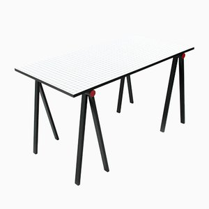 Trestle Table by Rodney Kinsman for Bieffeplast, 1980s