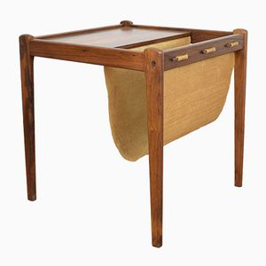 Danish Rosewood Side Table with Magazine Rack from BRDR Furbo, 1960s