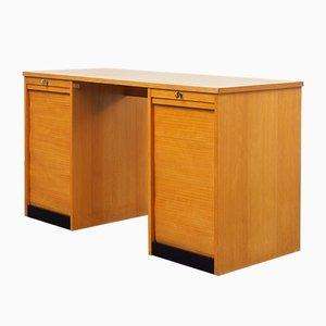 Industrieller Schreibtisch mit Schubladencontainern, 1950er