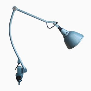 Lámpara de pinza modelo 126 de metal martillado azul de Curt Fischer para Midgard, años 30