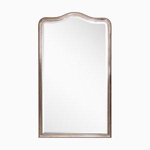 Französischer Spiegel mit versilbertem Rahmen, 1860er