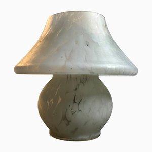 Lámpara de mesita de noche de vidrio esmerilado, años 70