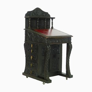 19th Century Gothic Revival Davenport Desk