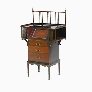 Arts & Crafts Mahogany Bureau Desk, 1910s