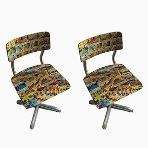 Mid-Century Children's Comics Chairs, 1950s, Set of 2