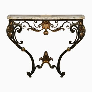 Louis XV Style Wrought Iron Console, 1950s