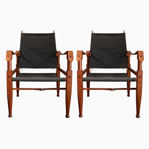 Safari Armchairs by Kaare Klint for Rud. Rasmussen, 1950s, Set of 2