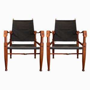 Safari Armchairs by Kaare Klint for Rud. Rasmussen, 1950s, Set of 2