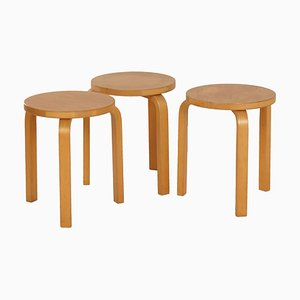 Model 60 Stools by Alvar Aalto for Artek, 1960s, Set of 3