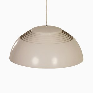 Grey-White Pendant by Arne Jacobsen for Louis Poulsen, 1950s