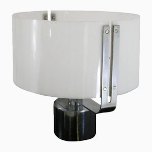 Lampe de Bureau en Plexiglas et Acier Chromé, 1970s