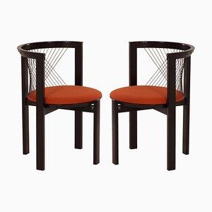 Sillas String de Niels Jørgen Haugesen para Tranekær Furniture, años 80. Juego de 2