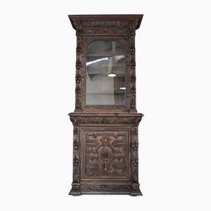 Victorian Oak Display Cabinet