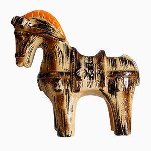Cheval Sahara en Céramique par Aldo Londi pour Bitossi, 1960s