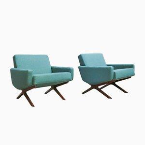 Easy Chairs par France & Son, Danemark, 1960s, Set de 2