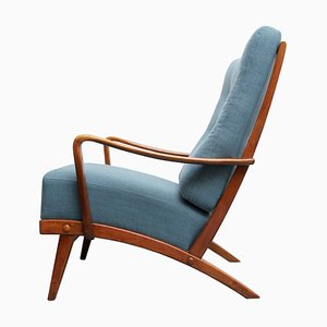 Chaise Wing Bleue, 1950s